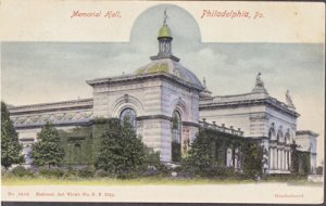 Philadelphia PA - MEMORIAL HALL in West Fairmount Park 1900s