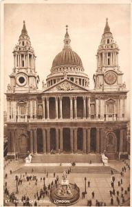 London St Paul's Cathedral Front view Statue Catedral 1928