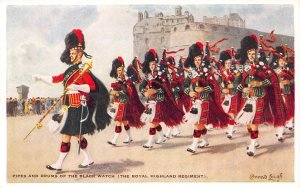 Scotland, Great Britain, The Black Watch Regiment, Early Postcard, Unused
