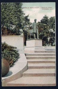Lincoln Monument Lincoln Park Chicago IL used c1910