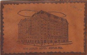 JOPLIN , Missouri , 1900-10s ; New Joplin Hotel ; Leather Postcard
