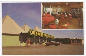 Cherokee Trading Post Restaurant  US Route 66 El Reno Oklahoma postcard