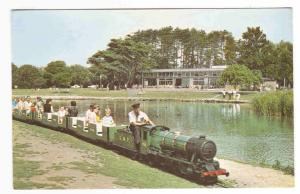 Model Railway Railroad Poole Park Lake Dorset United Kingdom postcard