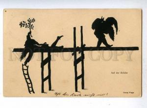 187134 GNOME Dwarf Bridge by Georg POGGE Vintage SILHOUETTE PC