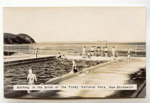 Real Photo Swimmers Bathing in the Brine, Fundy National Park, New Brunswick