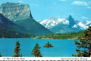 Montana Glacier National Park St Mary Lake & Goose Island