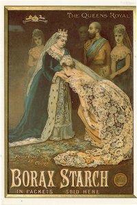 Queen Victoria Advertising Borax Starch Gloucester Rare Postcard