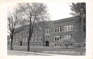 Augusta Wisconsin~Public High School~1950s Real Photo Postcard~RPPC