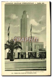Old Postcard Colonlale International Exhibition 1931 Paris Palais De La Secti...