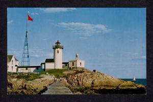 MA Eastern Pt Light  Lighthouse Gloucester Cape Ann Mass Massachusetts Postcard