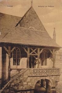 GOSLAR, Lower Saxony, Germany; Aufgang am Rathaus, PU-1910