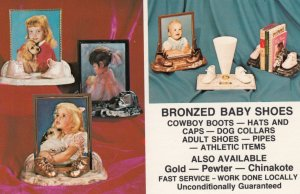 MIAMI , Florida , 1950-60s ; Bronzed Baby Shoes