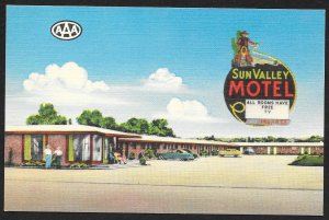 Sun Valley Motel AAA El Paso Texas Unused c1940s
