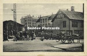 norway norge, HAUGESUND, Landmandstorvet, Market Scene (1920) Stamps