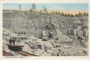 BARRE , Vermont , 1910-20s; Granite Quarry, version 2