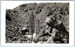 RPPC  LASSEN VOLCANIC National Park, CA   CINDER CONE LAVA FLOW 1936 Postcard