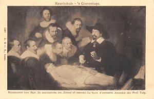 Art Post Card,Old Vintage Artist Postcard Rembrandt Van Rijn School of Anatom...