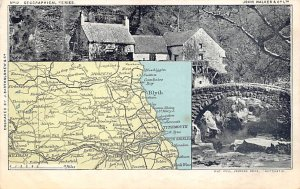 Maps Old Mill, Jesmond Dene Newcastle, British Isles 1904