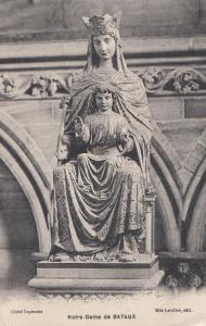 Notre Dame De Bayeux Statue French Religious Postcard