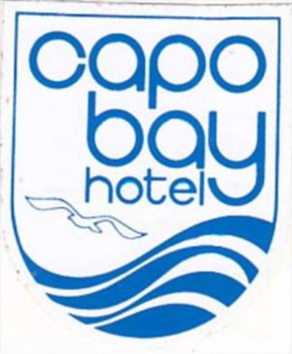 GREECE CAPO BAY HOTEL VINTAGE LUGGAGE LABEL