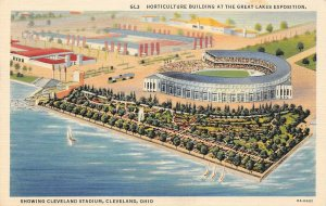 LP71   Baseball Stadium Cleveland Ohio Postcard Great Lakes Exposition