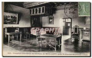 Old Postcard Chamber & # 39honneur of Meillant chateau near St Amand Montrond