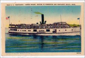 S.S. Nantasket, Rowes Wharf, Boston MA