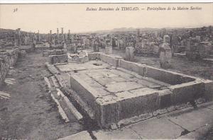 Tunisia Ruines Romaines de Timgad Peristylium de la Maison Sertius