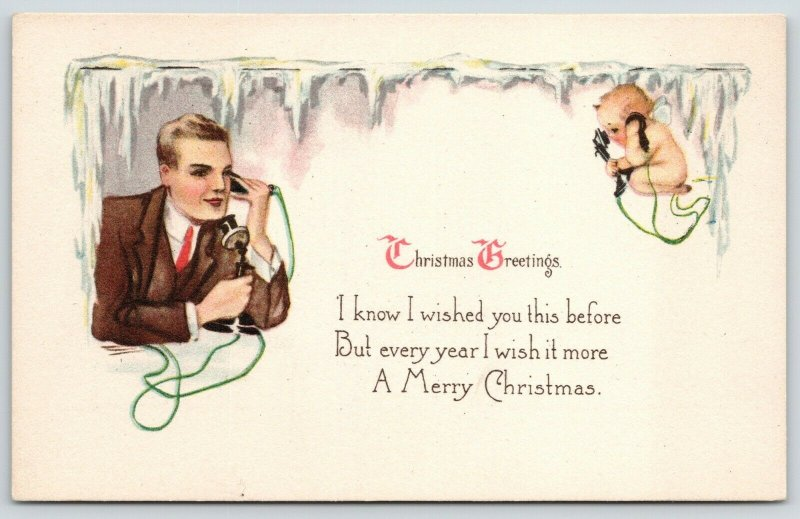 Christmas~Gentleman on Candlestick Telephone~Cupid on the Line~Ice Top~L&E~3012