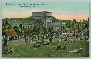 San Francisco CA~Sunday Afternoon Lounging @ Golden Gate Park~Monument~c1910