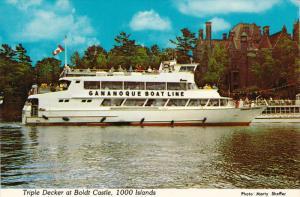 Gananoque Boat Line, Triple Decker at Boldt Castle, Thousand Islands, Ontario...
