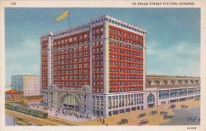 Illinois Chicago La Salle Street Station Curteich