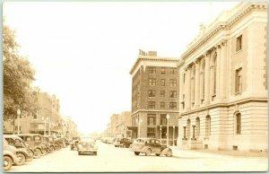 HASTINGS, Nebraska RPPC Real Photo Postcard HASTINGS AVENUE Downtown c1930s