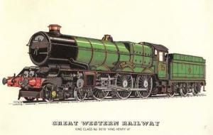 King Henry VI 6018 Great Western Railway Train Postcard