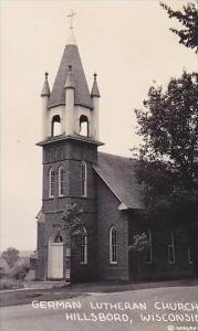 Wisconsin Hillsboro German Lutheran Church Real Photo