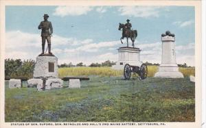Pennsylvania Gettysburg Statues Of General Buford General Reynolds and Hall&#...