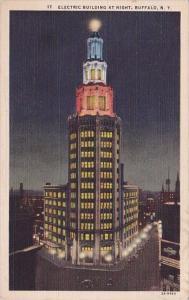 New York Buffalo Electric Building At Night