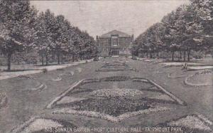 Sunken Garden Horticultural Hall Fairmount Park Philadelphia Pennsylvania 1912