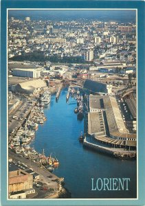 France Bretagne lorient port boats city postcard