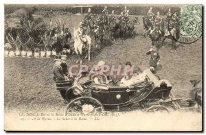 Old Postcard Paris The King and Queen of Italy 1903 A Paris magazine Le hello...