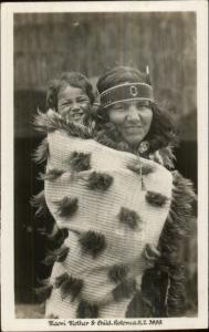 Ethnic Ethnography Maori Mother & Child New Zealand Real Photo Card/Postcard