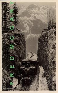 1910 Switzerland Real Photo PC: Brunigbahn. Passhohe