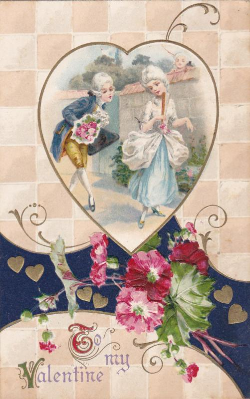 VALENTINE´S DAY ; Victorian Couple , PU-1911