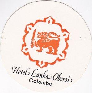 Sri Lanka Colombo Hotel Lanka Oberoi Vintage Luggage Label lbl0975
