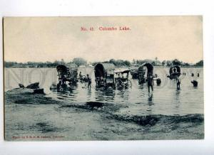 227104 CEYLON COLOMBO Lake Vintage Sadoon postcard #41