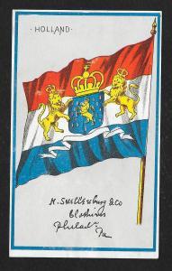 VICTORIAN TRADE CARD M Snellenburg & Clothiers