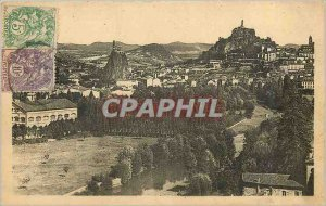 Old Postcard Le Puy Vue Generale taken the Rock of Espaly