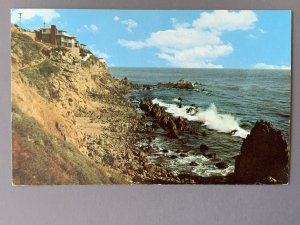 Seaside Homes Overlooking The Blue Pacific CA Chrome Postcard A1173090212