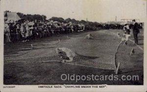 Track & Field Postcard Postcards Obstacle Race Unused