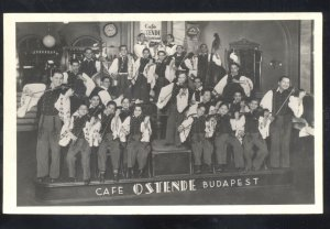 BUDAPEST HUNGARY CAFÉ OSTENDE BAND ORCHESTRA VINTAGE REAL PHOTO POSTCARD